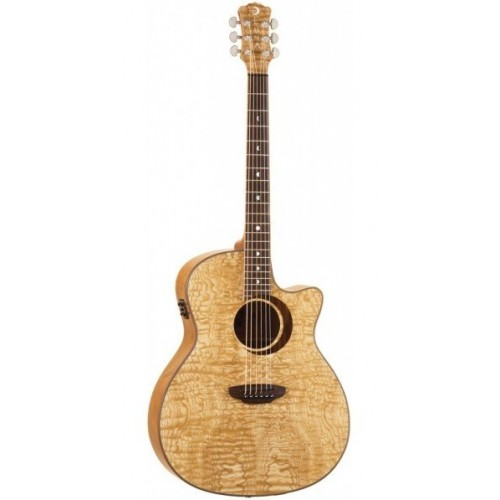 Luna Woodland Quilted Ash 12 String